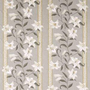 Sanderson Sojourn Prints & Embroideries Tkanina Lilium Silver/Linden