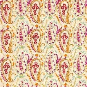 Sanderson Sojourn Prints & Embroideries Tkanina Jamila Brights/Multi