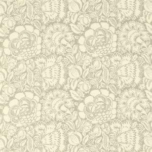 Sanderson Sojourn Prints & Embroideries Tkanina Poppy Damask Silver/Ivory