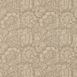Sanderson Sojourn Prints & Embroideries Tkanina Poppy Damask Linen/Natural