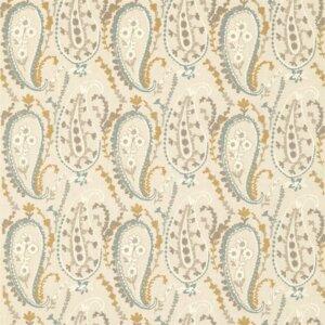 Sanderson Sojourn Prints & Embroideries Tkanina Jamila Wedgwood/Linen