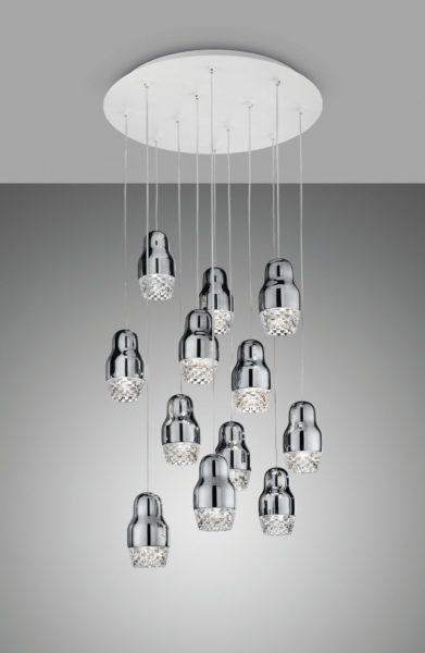 AXO fedora chrome lampa
