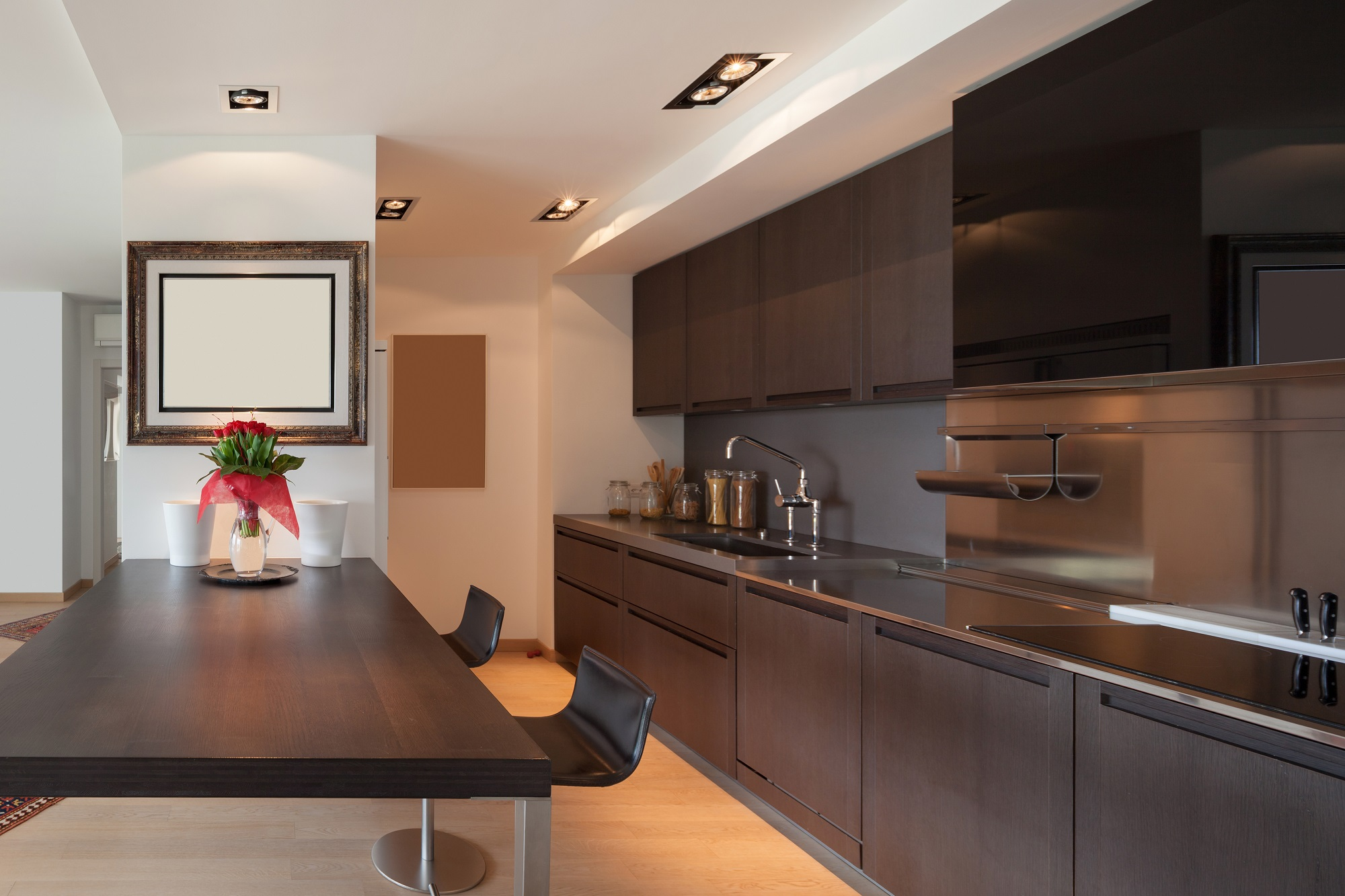 contemporary domestic kitchen