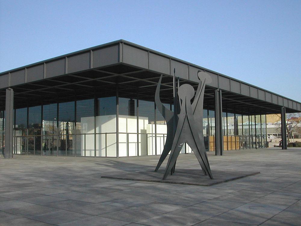 Budynek projektu L. Mies van der Rohe