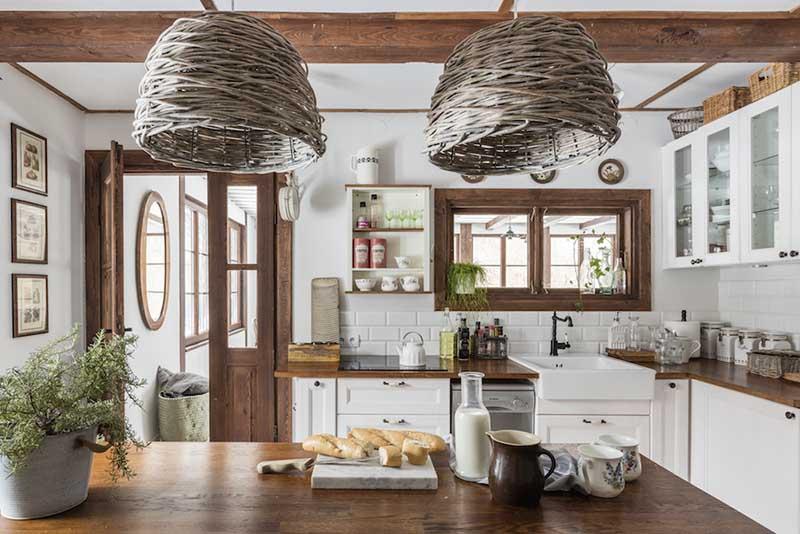 Aranżacja kuchni w stylu rustykalnym | proj. Dziurdzia Projekt
