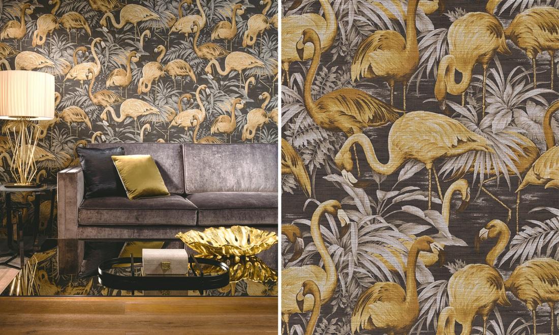 Kolekcja Flamingo marki ARTE | tapety dostępne w salonach Internity Home i Prodesigne
