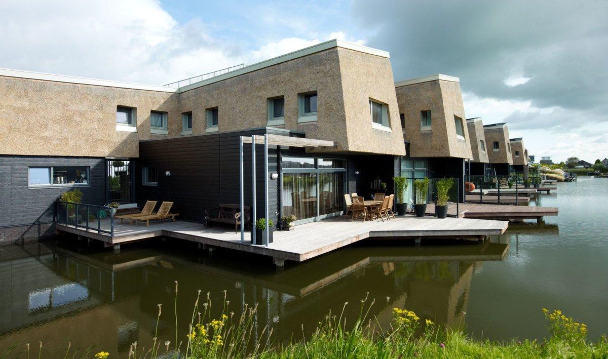 Pływające domki, Rotterdam, Holandia