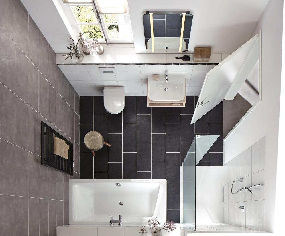 Łazienka czarno-biała (Kaldewei Xetis)