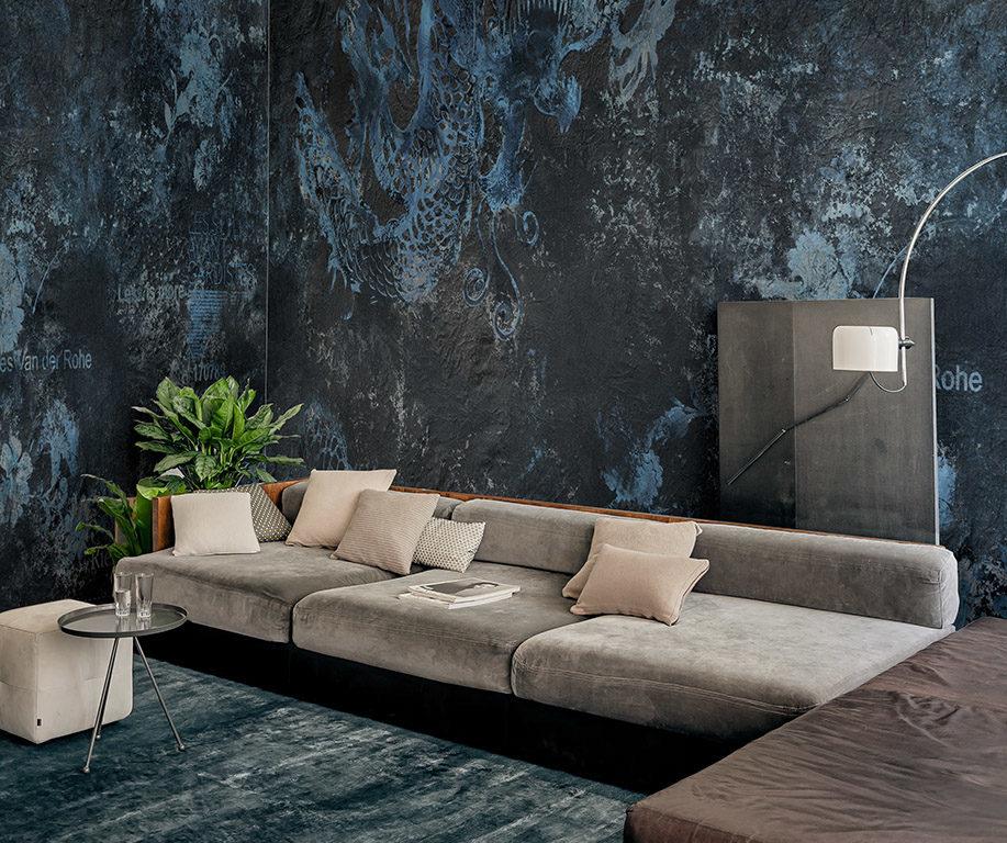 Lorenzo Pennati Wall&Deco tapeta czarno-granatowa