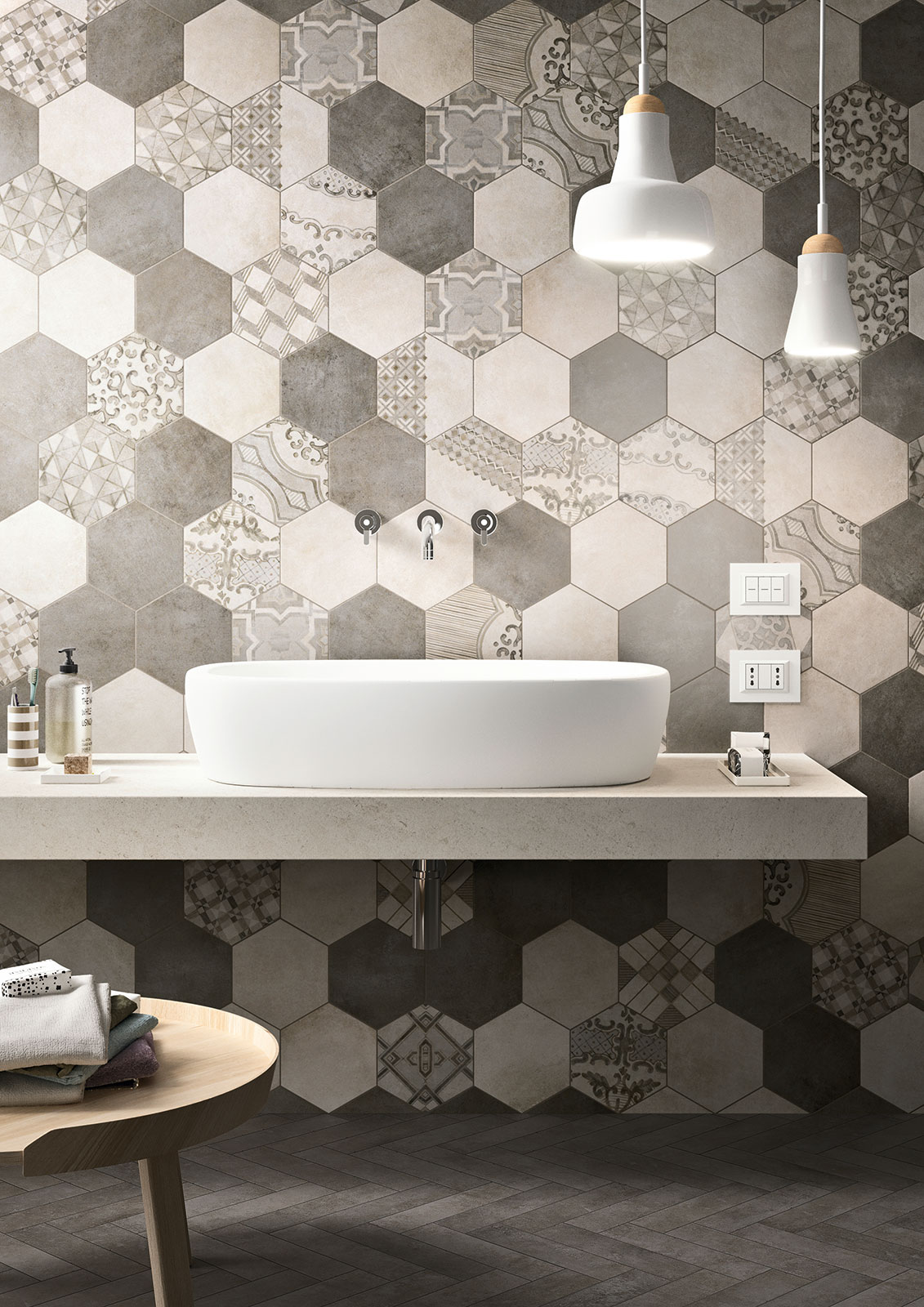 Patchwork na płytkach heksagonalnych | Marazzi