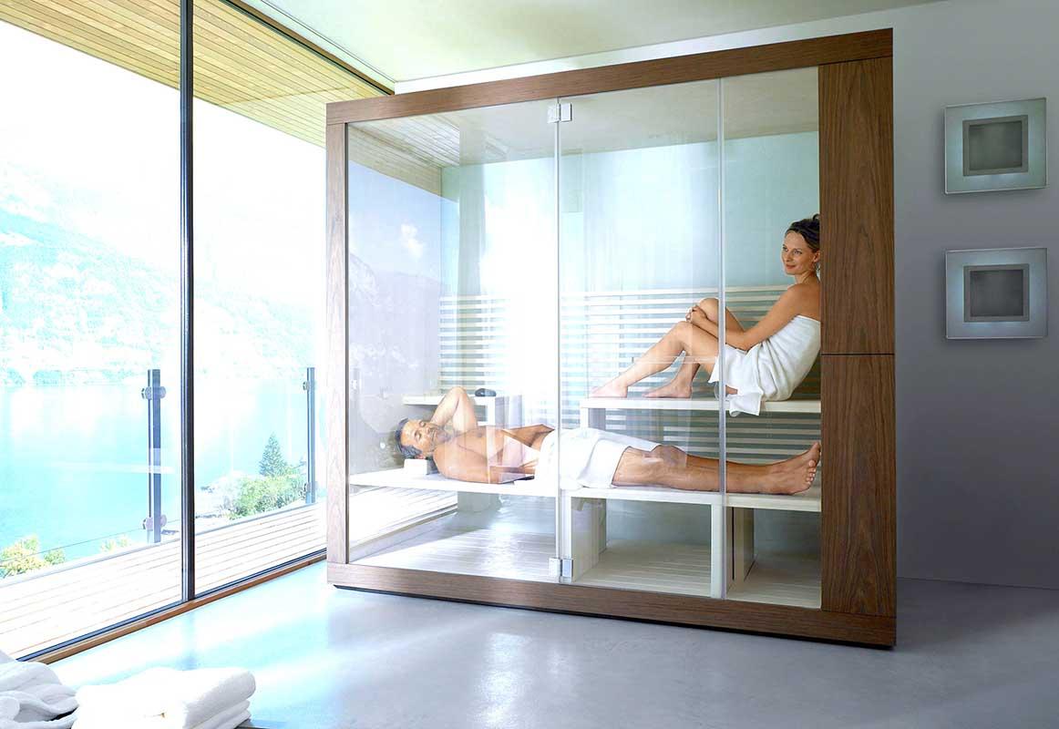 Nowoczesna-sauna-w-łazience-dla-dwóch-osób-Duravit-Inipi-
