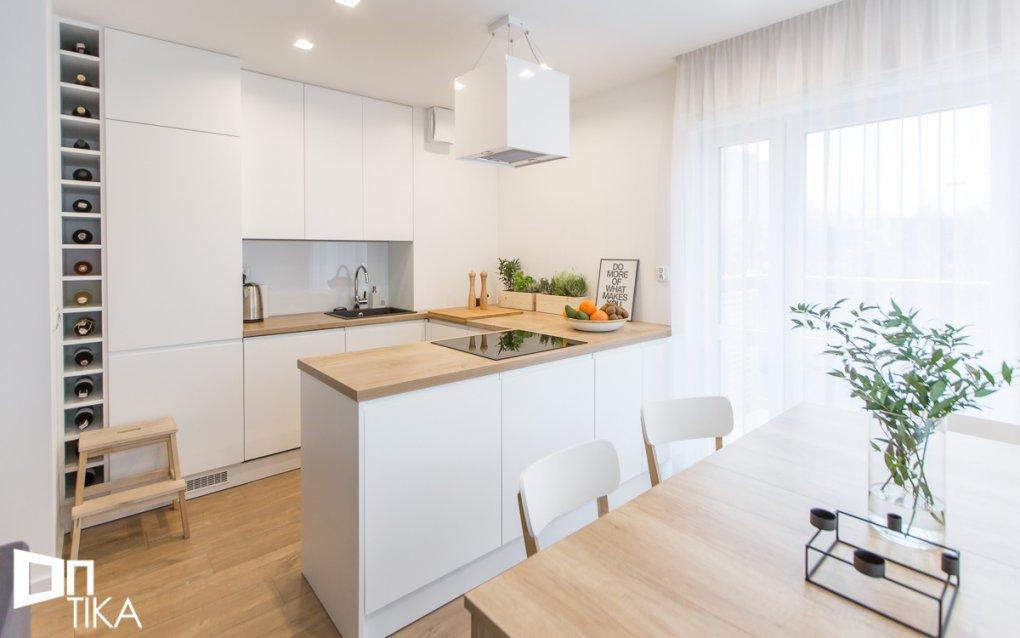 Aranżacja kuchni w minimalistycznych stylu | proj. Tika Architektura Wnętrz i Krajobrazu