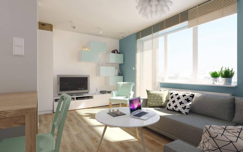 Aranżacja małego mieszkania / proj. Boho Studio