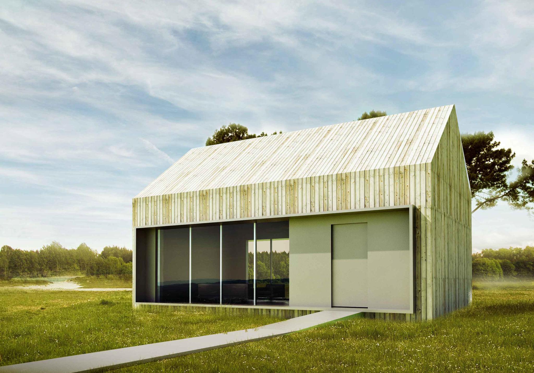 Projekt domku 40 m2 w Całowaniu
