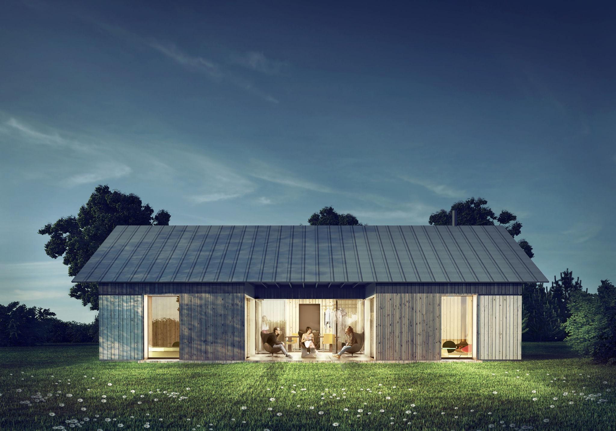 Domki w Całowaniu inspirowane duńskimi hytte