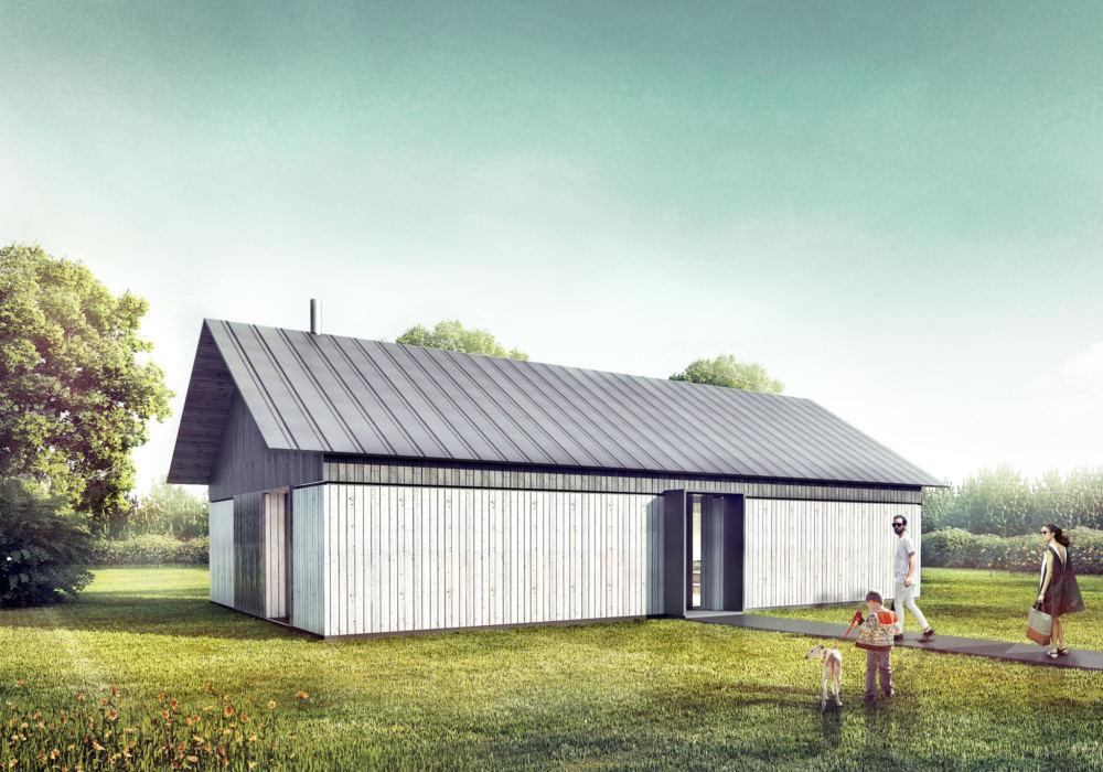 Projekt domku 85 m2 w Całowaniu
