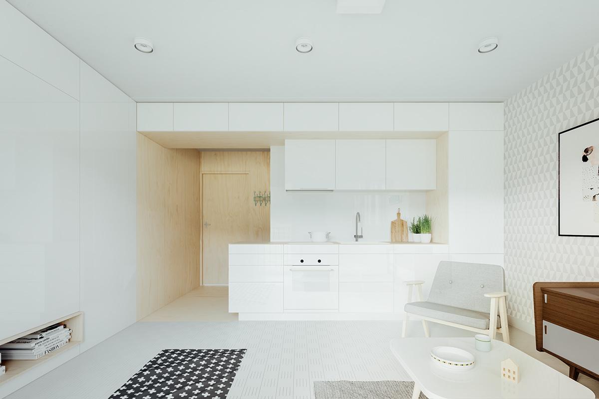 cute-open-plan-studio-kitchen
