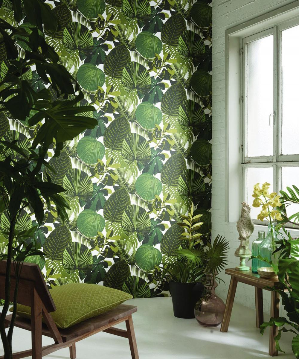 Tapeta w tropikalny wzór marki Khroma