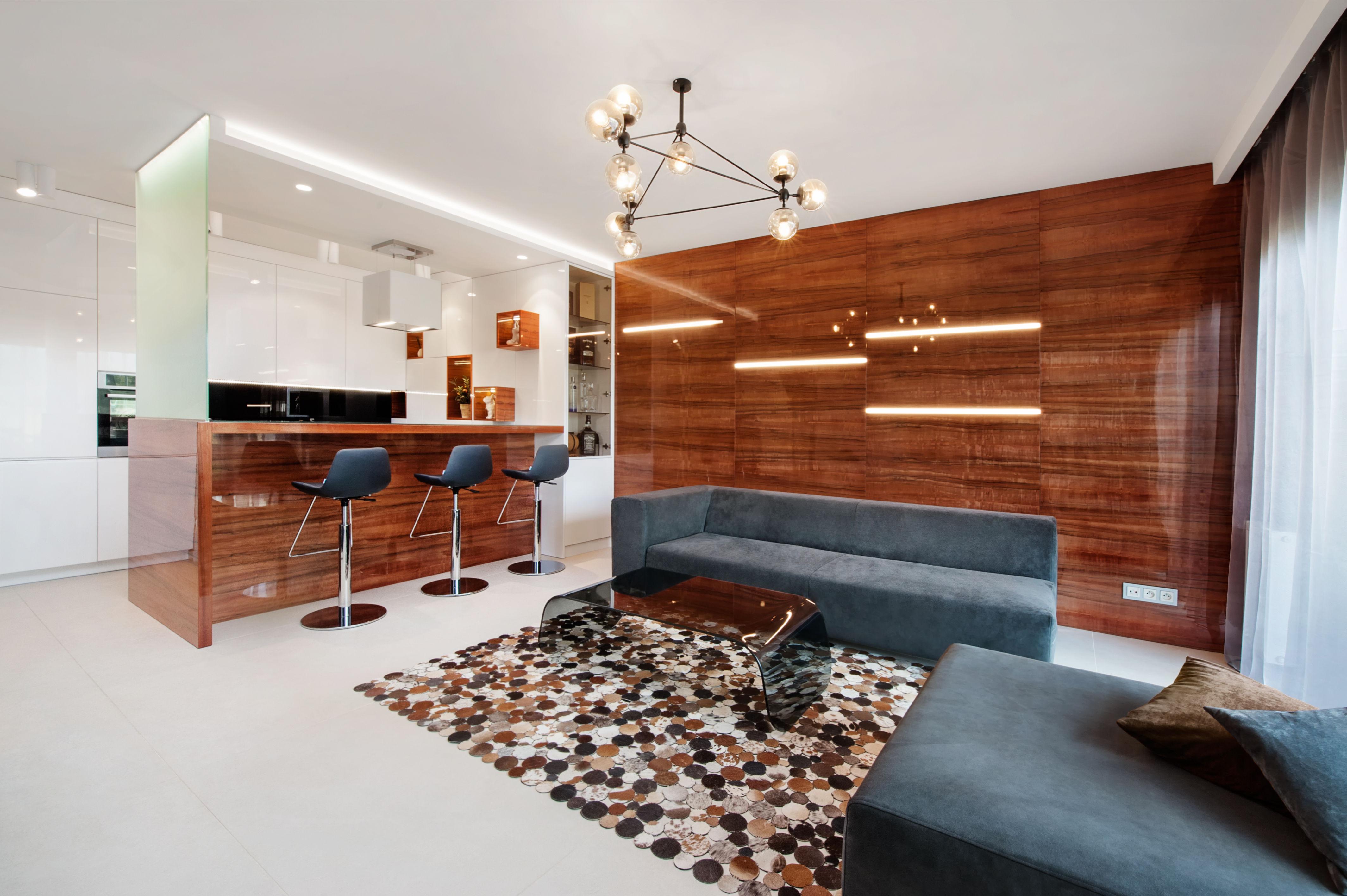 Wysoko - połyskowe meble kuchenne |proj. Finchstudio Architektura Wnętrz
