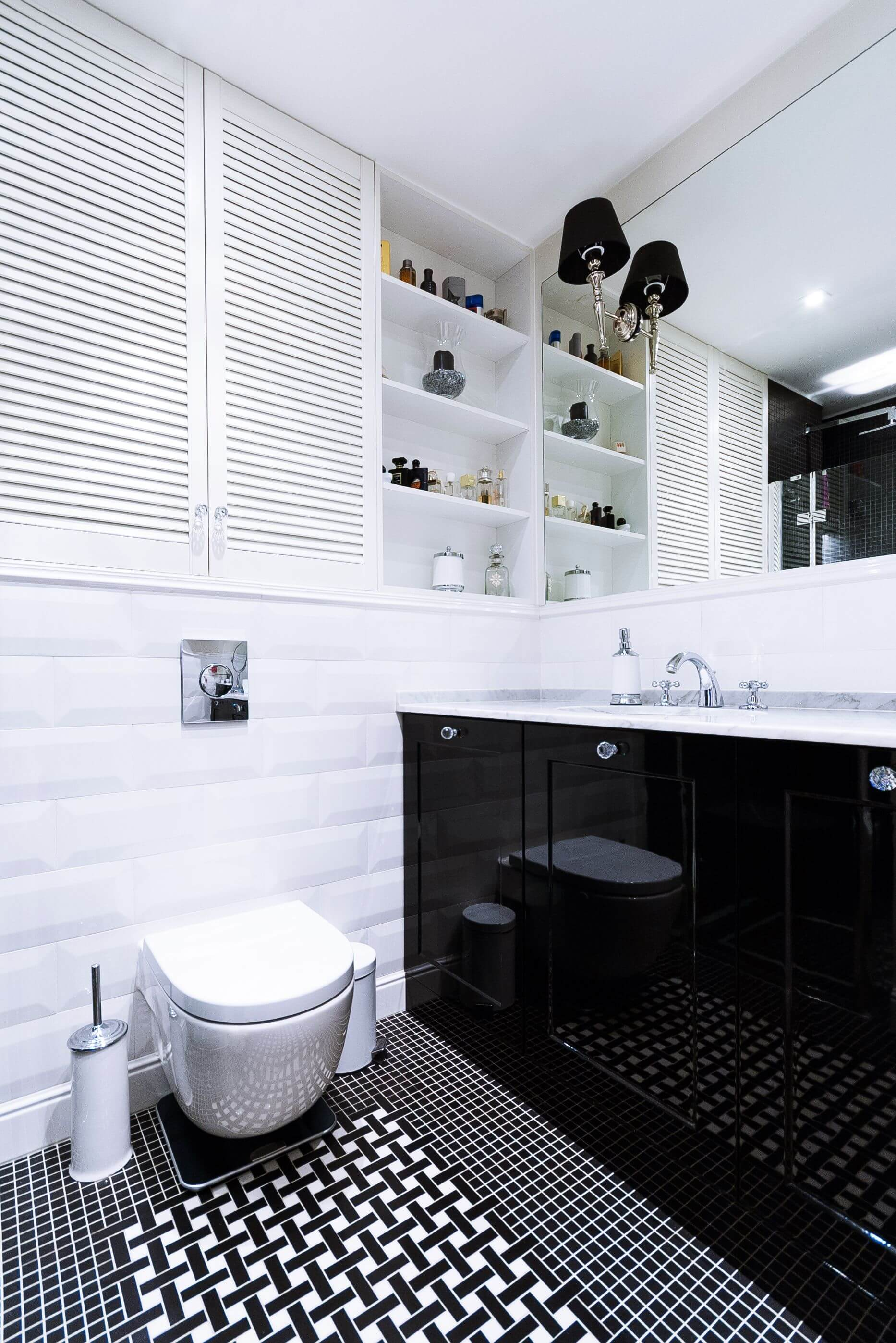 Aranżacja małej łazienki / proj. WOJSZ studio