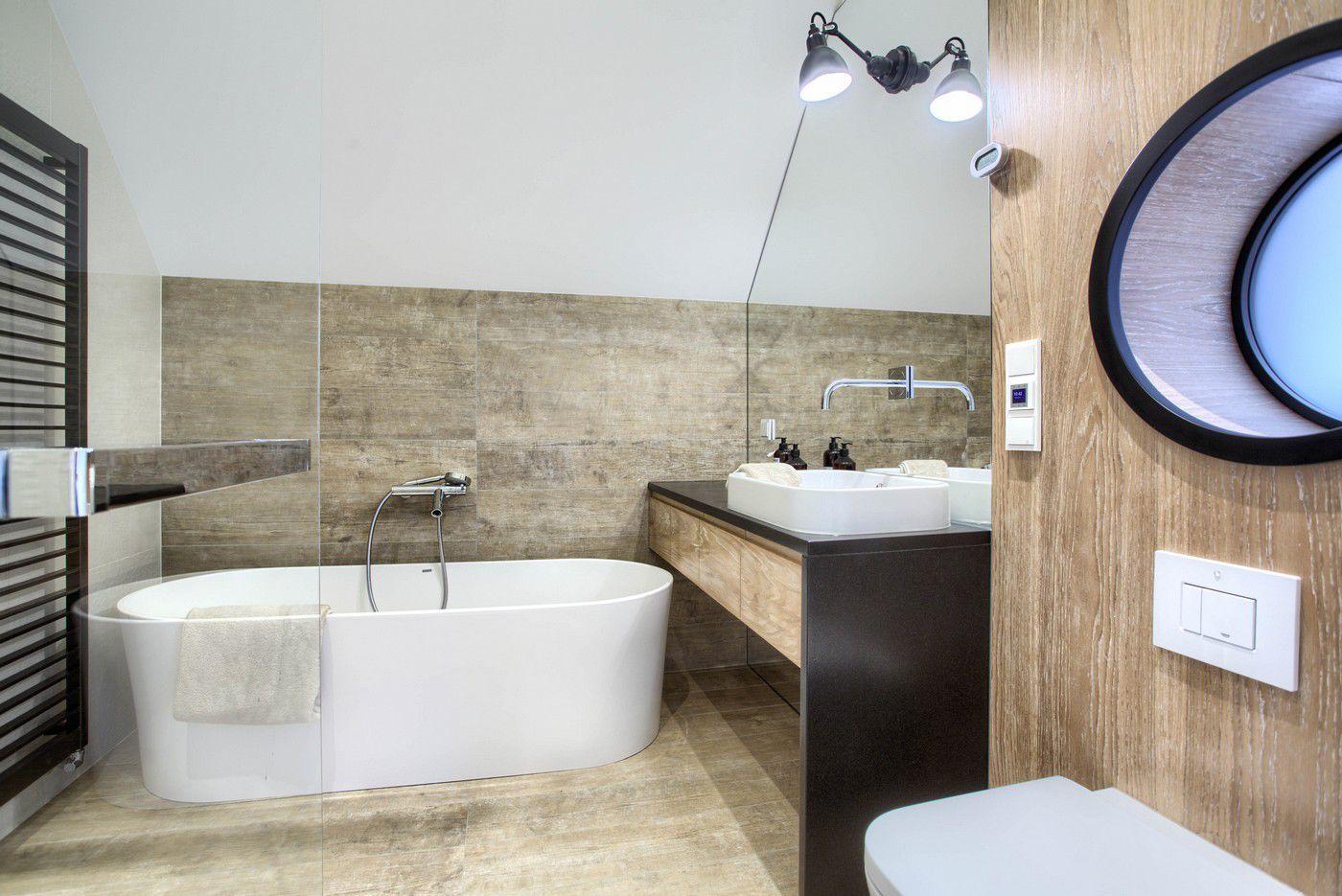 Mała łazienka na poddaszu / proj. emDesign home&decoration