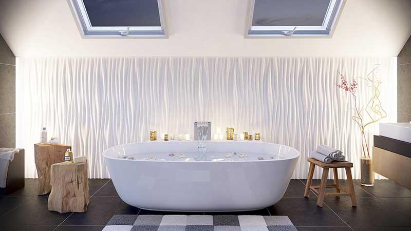 Panele ścienne 3D w łazience | Arstyl