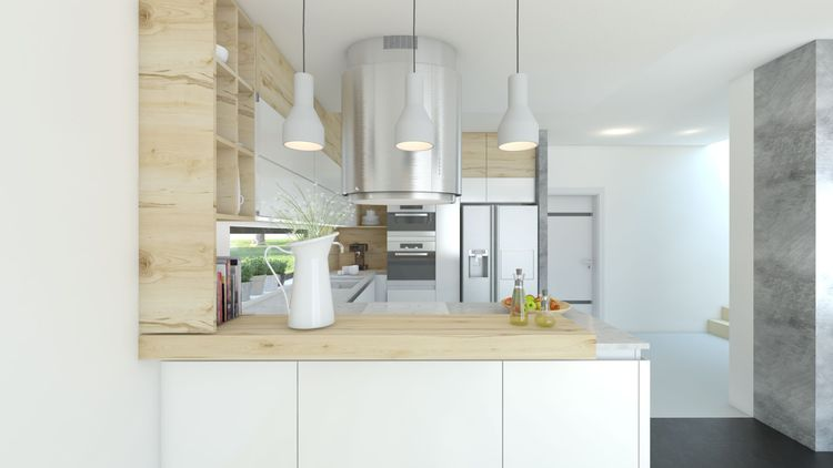 niestandardowe lampy w kuchni