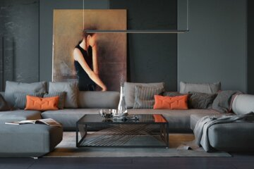 orange-and-black-interior-artwork-ideas