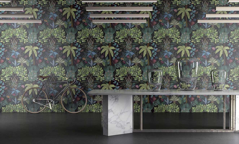 Tropikalne wzory we wnętrzach | propozycja płytek - kolekcja Paper 41 od marki 41 zero 42