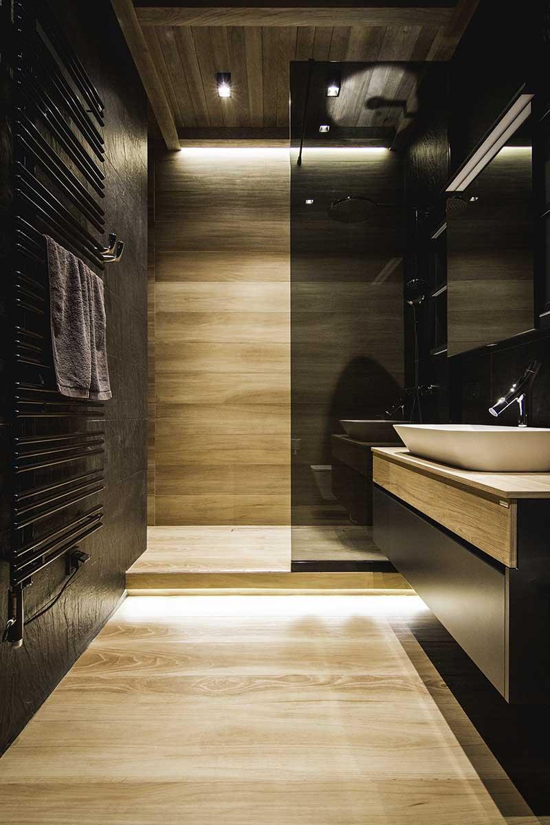 Prysznic We Wnęce Oszczędność Przestrzeni łazienki