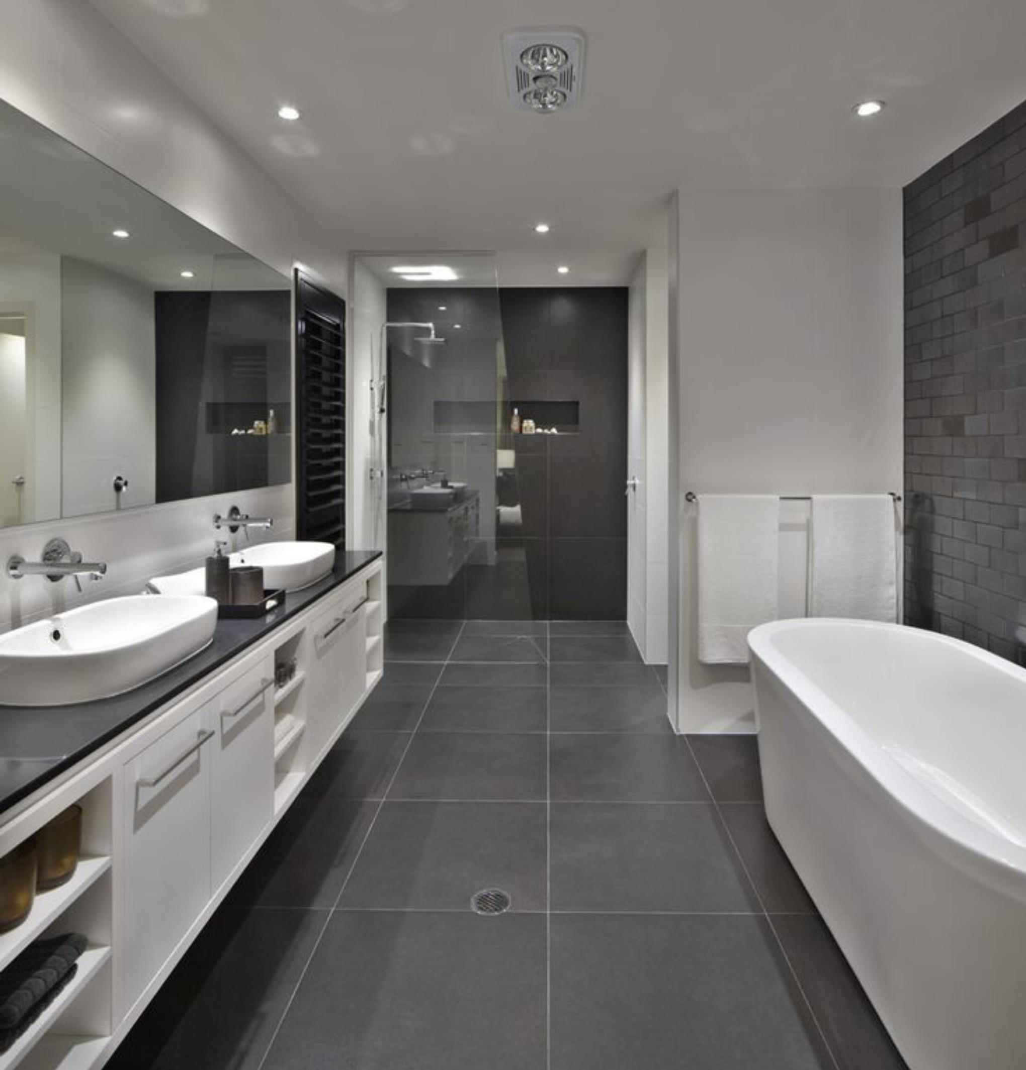 Aranżacja szarej łazienki